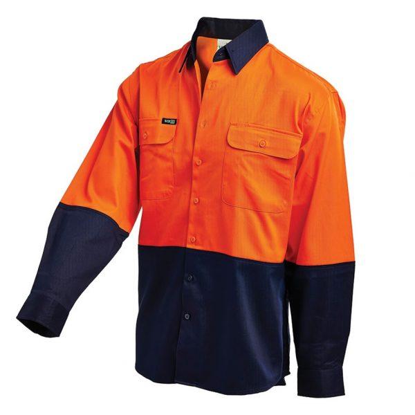 2007 cheap work boots workit workwear Hi-Vis Shirt orange navy