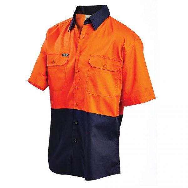 2008 cheap work boots workit workwear Hi-Vis Shirt orange navy