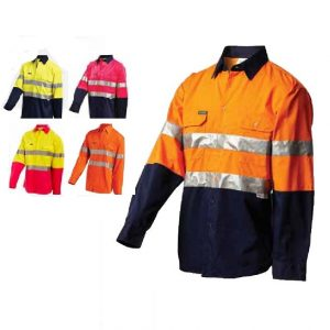 Workit 2013 Hi-Vis 2-Tone Lightweight L/S Shirt With Tape2013 cheap work boots workit workwear Hi-Vis Shirt group