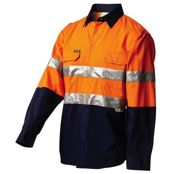 2013 cheap work boots workit workwear Hi-Vis Shirt orange navy
