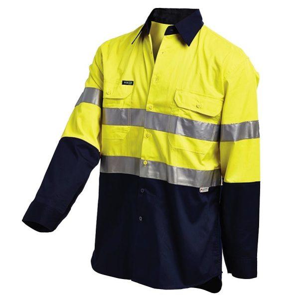 2013 cheap work boots workit workwear Hi-Vis Shirt yellow navy