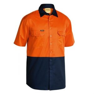 Bisley BS1895 2-Tone Cool Lightweight Drill S/Sleeve Shirt