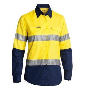 Bisley BL6415T Womens 3M Taped Hi-Vis X AirFlow™ Ripstop Shirt