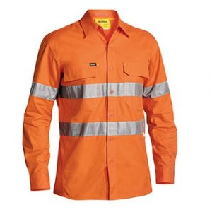 Cheap Work Boots Bisley Shirt BS6416T_Orange