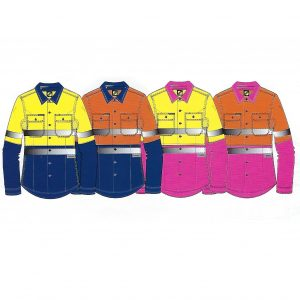 cheap work boots Hi-Vis Shirt Group Workcraft WSL501 Ladies