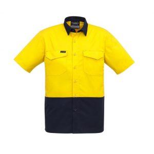 Syzmik ZW815 Mens Hi-Vis RipStop S/S Shirt
