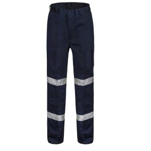 Workcraft WP3065 Hi-Vis Mens Mid Weight Navy Cargo Pantscheap work boots workcraft WP3065_NAVY_front