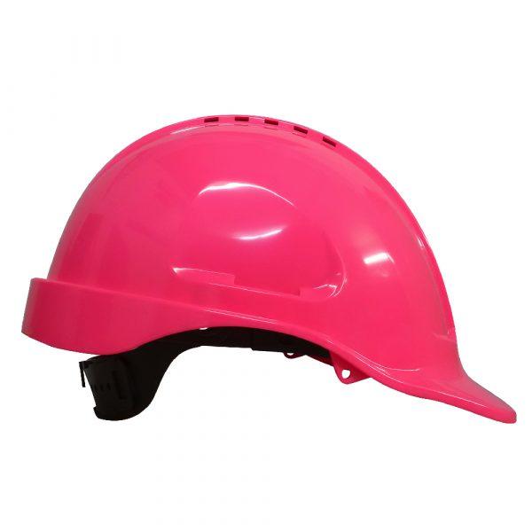 Maxi Safe Vented Hardhat Ratched Harness HVR580 (PPE) pink