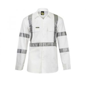 Workcraft WS3222 Hi-Vis L/S 3M X-Back Shirt Night Use