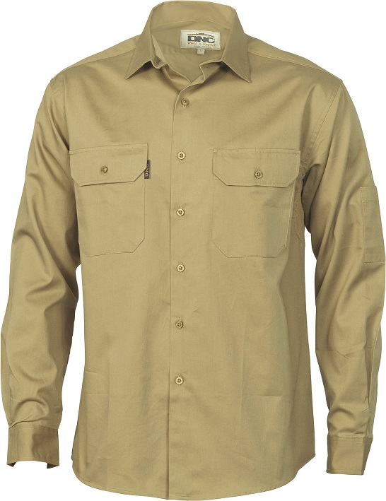 Cheap Work Boots DNC Shirt 3208 Khaki