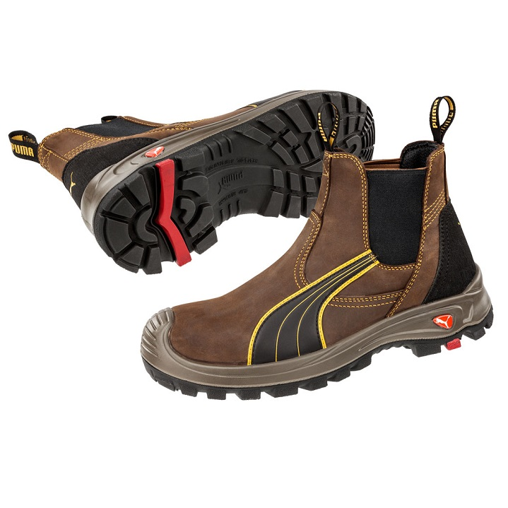 Puma 630267 Tanami Brown Slip On Safety Boot  680d2fd1f