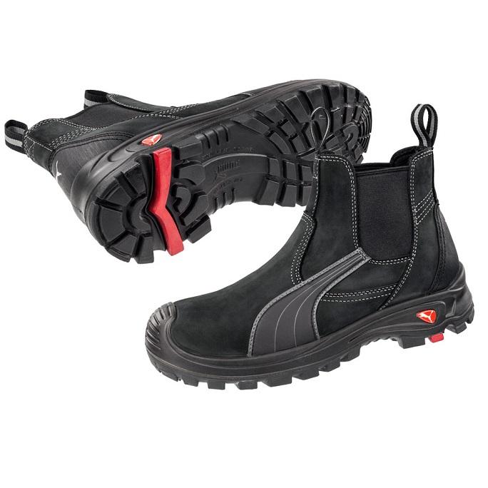 8740138209e Puma 630347 Tanami Black Slip On Safety Boot