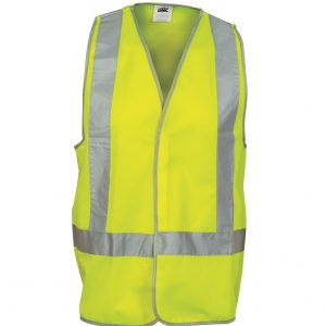 DNC 3804 Day/Night Safety Vests with H-patterncheap work boots Vest DNC 3804 yellow