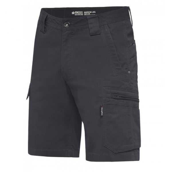 cheap work boots kinggee tradies slim fit shorts K17340_Charcoal
