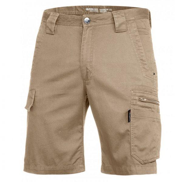 cheap work boots kinggee tradies slim fit shorts K17340_Khaki