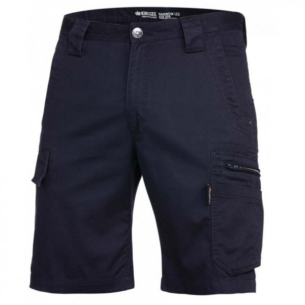 cheap work boots kinggee tradies slim fit shorts K17340_OILED NAVY