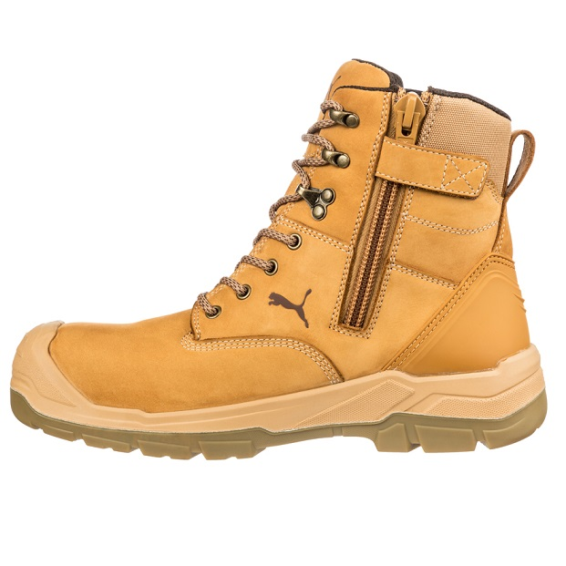 Puma 630727 Conquest Wheat Zip Side Waterproof Safety Boot  3b2454281