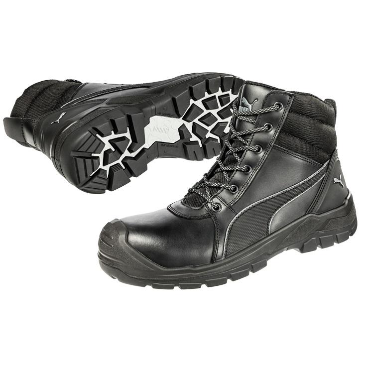 Puma 630797 Tornado Black Zip Side Safety Boot  5ddf9d84a