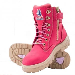 Steel Blue Ladies Southern Cross 512761 Zip Safety Boots PinkSteel Blue Southern Cross Zip Ladies Safety Boots Pink 512761