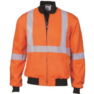 DNC 3759 HiVis Orange Cotton Bomber Jacket X-BackCheap Work Boots DNC 3759 X-Back