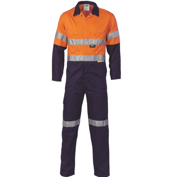 Cheap Work Boots DNC 3955 Hi-Vis Overalls Orange Navy