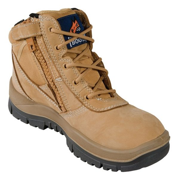 Mongrel 961020 Zip Side Non Safety Boot Wheat