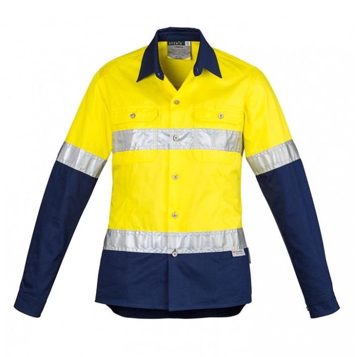 Cheap Work Boots Syzmik Ladies Shirt ZWL123_Yellow Navy