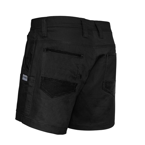 cheap work boots Syzmik Shorts ZS506_Black_Back