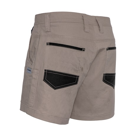 cheap work boots Syzmik Shorts ZS506_Khaki_Front