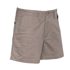 cheap work boots Syzmik Shorts ZS506_Khaki_Back