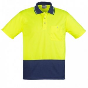 Syzmik ZH231 Unisex Hi Vis Basic Spliced Polo - Short Sleeve-0