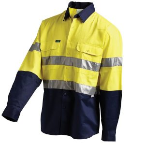 Workit 2021 Hi-Vis 2-Tone Super Lightweightb Ripstop Shirt 3M Tape