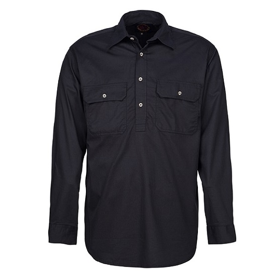 Cheap Work Boots Pilbara Shirt RM200 Closed Front Black