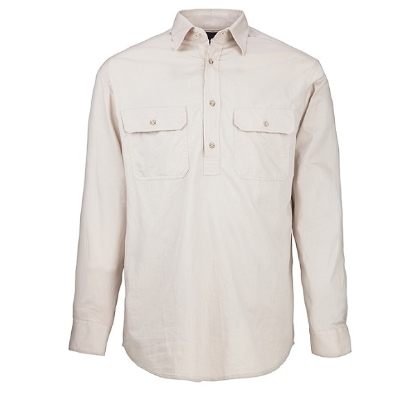 Cheap Work Boots Pilbara Shirt RM200 Closed Front Stone