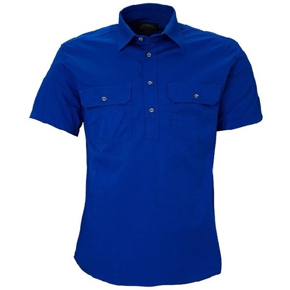 Cheap Work Boots Pilbara Shirt RM200CFS Cobalt Blue
