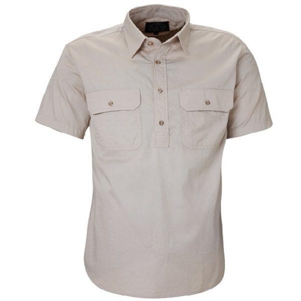 Cheap Work Boots Pilbara Shirt RM200CFS Stone