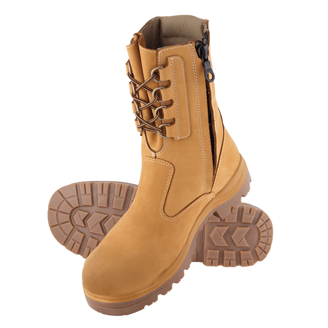 Steel Blue Collie 322099 Wheat Nitrile High Leg Safety Boot 2d1670892079