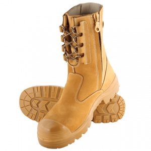 Steel Blue  Collie 342099 Wheat Nitrile Bump High Leg Safety Boot