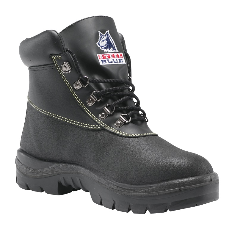 538e208d053 Steel Blue Warragul 322309 Black Nitrile Safety Boot | At The Coal ...