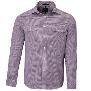 Pilbara RMPC008 Mens L/Sleeve Double Pockets Shirt