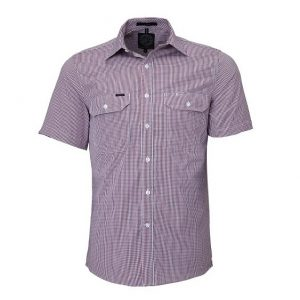 Pilbara RMPC008S Mens S/Sleeve Double Pockets Shirt