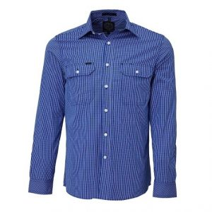 Pilbara RMPC009 Mens L/Sleeve Double Pockets Shirt