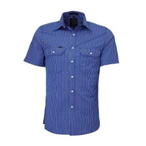 Pilbara RMPC009S Mens S/Sleeve Double Pockets Shirt