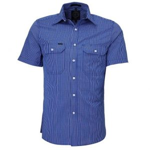 Pilbara RMPC009S Mens S/Sleeve Double Pockets Shirt
