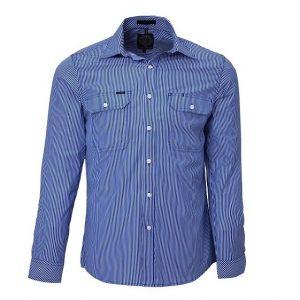 Pilbara RMPC010 Mens L/Sleeve Double Pockets Shirt