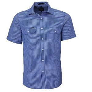 Pilbara RMPC010S Mens S/Sleeve Double Pockets Shirt