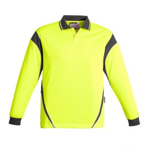 Syzmik ZH249 Mens Hi Vis Aztec Polo - Long Sleeve