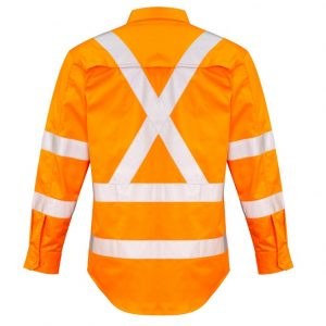 Syzmik ZW690 Mens Hi Vis X-Back Taped Shirt