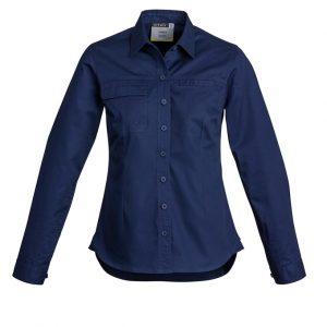 Syzmik ZWL121 LadiesLightweight Tradie Shirt - Long Sleeve
