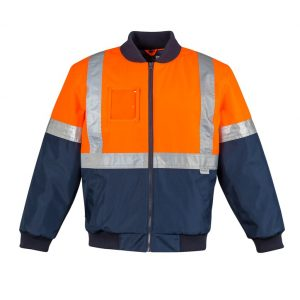 Syzmik ZJ351 Mens HI Vis Taped Quilted Flying Jacket
